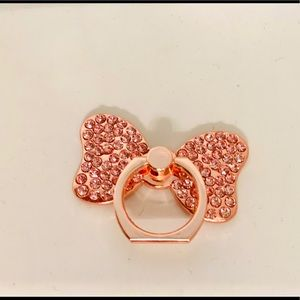 Ring Stand Rose Gold Stone Studded - BRAND NEW